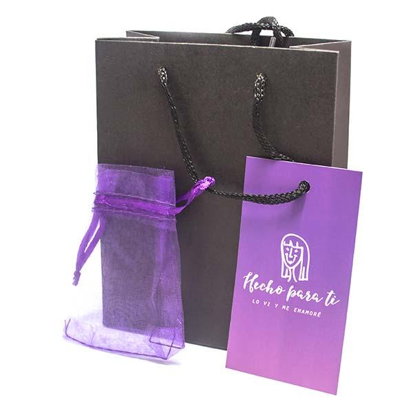 Bolsa negra 15cm*12cm, incluye bolsa de ORGANZA y tarjeta de regalo con diferentes tipos de saludos-Insumos -Insumos Joyas-CC12
