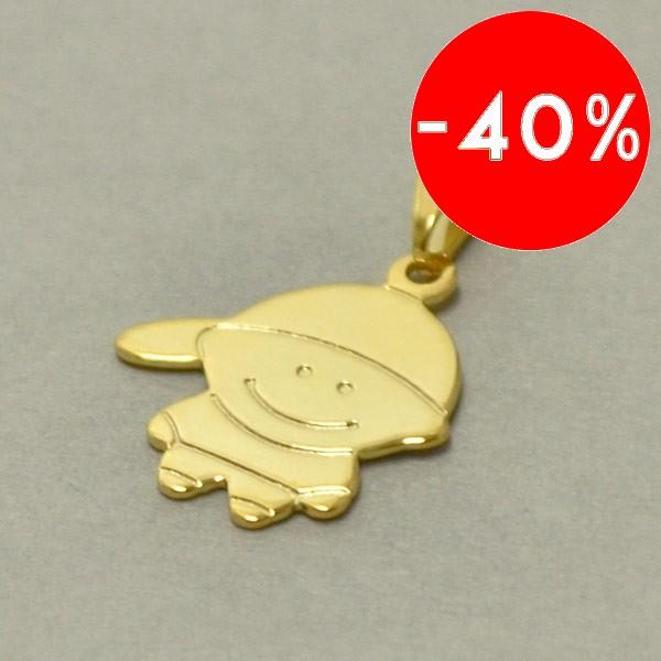 Joyas bañadas en oro por mayor, colgante. largo de 3cm , diseño de niño-Joyas Banadas-Colgantes-PE0061H