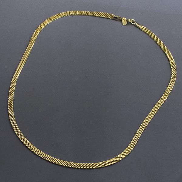 Joyas bañadas en oro por mayor, collar eslabón plano 5 mm de ancho y 22 cm de largo-Joyas Banadas-Collares-NE0037