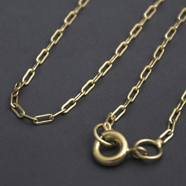 Joyas bañadas en oro por mayor, delicada cadena 1 mm de ancho y 25 cm de largo-Joyas Banadas-Collares-NE0042