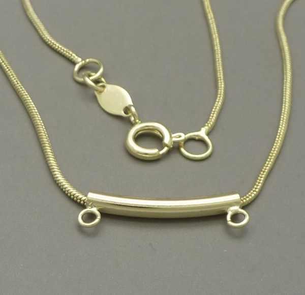 Joyas bañadas en oro por mayor, cadenas y collares. cadena topo, de 1,2mm de espesor, con valier pa-Joyas Banadas-Collares-NE0030