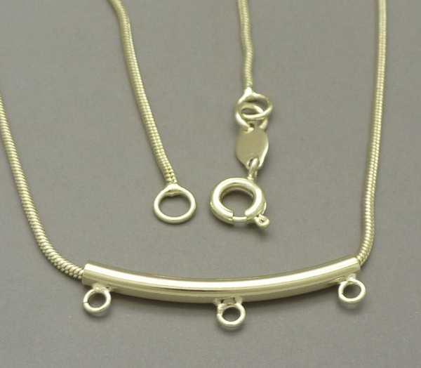 Joyas bañadas en oro por mayor, cadenas y collares. cadena topo con valier de tres colgantes, de 1,-Joyas Banadas-Collares-NE0031