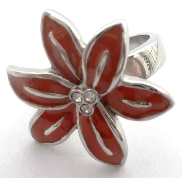 Joyas de acero quirurgico por mayor, anillos. anillo en forma de flor con 6 petalos alargados y esm-Súper Ofertas-SEMANA DEL ANILLO-RA0421L