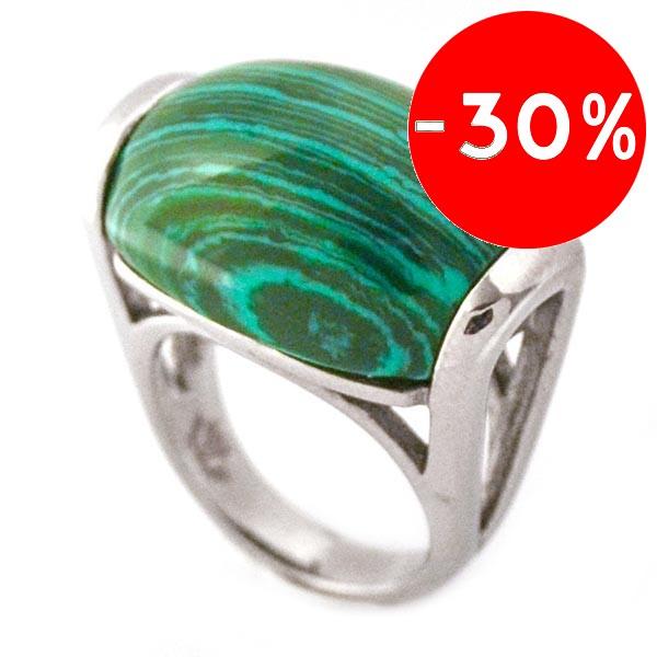 Joyas de acero quirurgico por mayor, anillos. Joyas de acero anillo con piedra verde veteada-Joyas de Acero-Anillos-RA0550