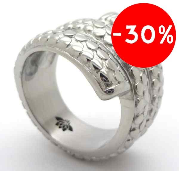 Joyas de acero quirurgico por mayor, anillos. Anillo acero,forma de serpiente enrollada-Joyas de Acero-Anillos-RA0590