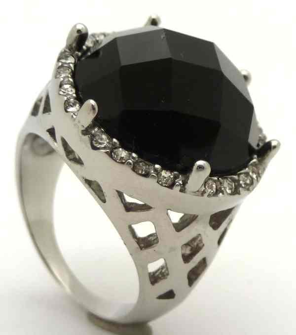 Joyas de acero quirurgico por mayor, anillos. Anillo acero grueso con forma de panal en los costado-Joyas de Acero-Anillos-RA0613L
