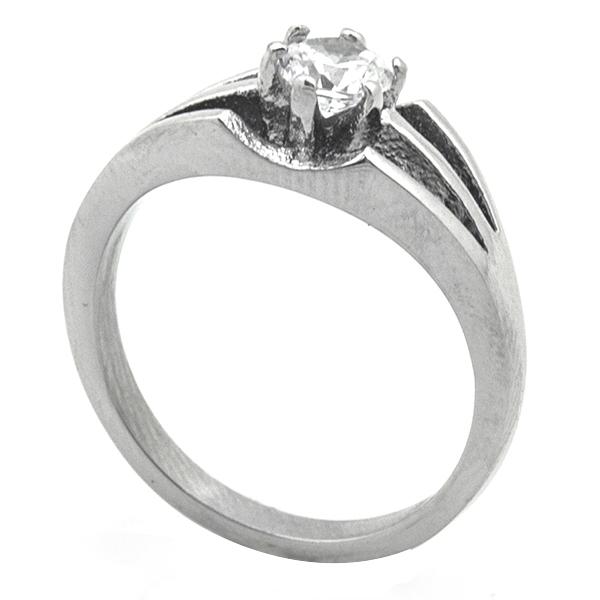Joyas de acero quirurgico por mayor, Anillos, anillo acero solitario diseño vanguardista-Joyas de Acero-Anillos-RA0770