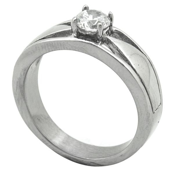Joyas de acero quirurgico por mayor, Anillo, anillo acero estilo solitario-Joyas de Acero-Anillos-RA0771