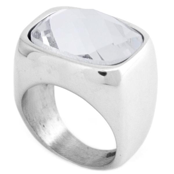 acero y cristal facetado, combinable con cualquier look-Joyas de Acero-Anillos-RA0826C