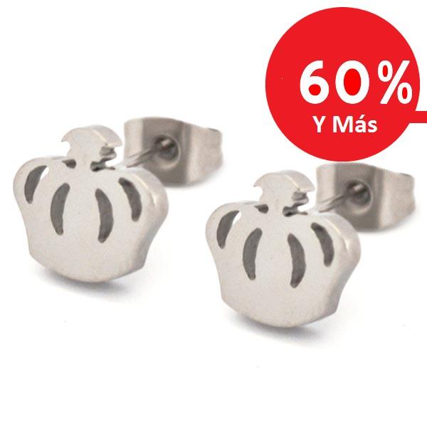 Joyas de acero quirúrgico por mayor, aros ideal para niñita, tamaño 1,2 cm-Joyas de Acero-Aros-EA0776PL