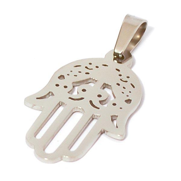 Joyas de acero quirúrgico por mayor, amuleto de protección, largo 3,8 cm-Súper Ofertas-OFERTA JOYAS DE ACERO-PA0329
