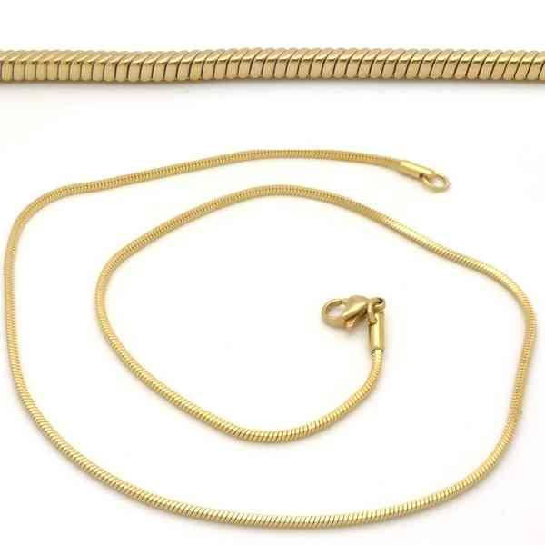Joyas de acero quirurgico por mayor, cadenas y collares. cordón cuadrado de 1,5 mm y 40 cm de largo-Joyas de Acero-Collares-NA0076D