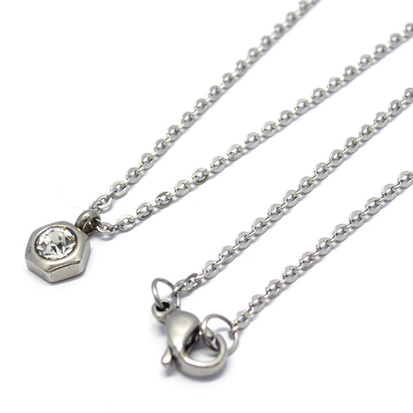 diseño de moda ideal para combinar con otras cadenas, largo 45 cm-Joyas de Acero-Collares-NA0095CP