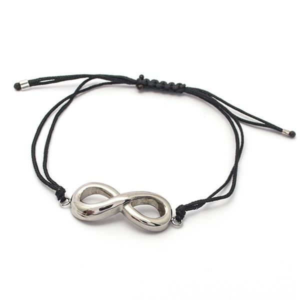 Joyas de acero quirúrgico por mayor, Pulseras, pulsera acero con símbolo del infinito, largo 22 cm-Linea Propia-Pulseras-BA0215