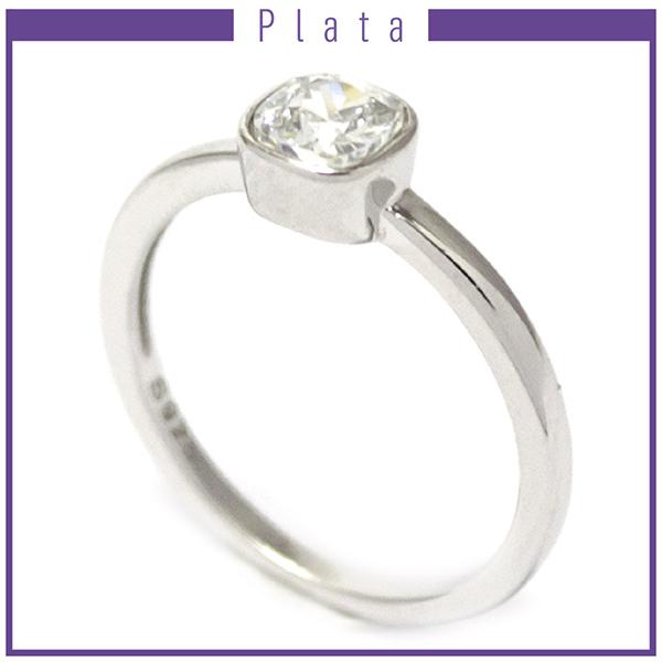 Anillos-Joyas de plata 925 por mayor ANILLO DE PLATA CON CIRCON PEQUEÑO CUADRADO-Joyas de Plata-Anillos-RP0006