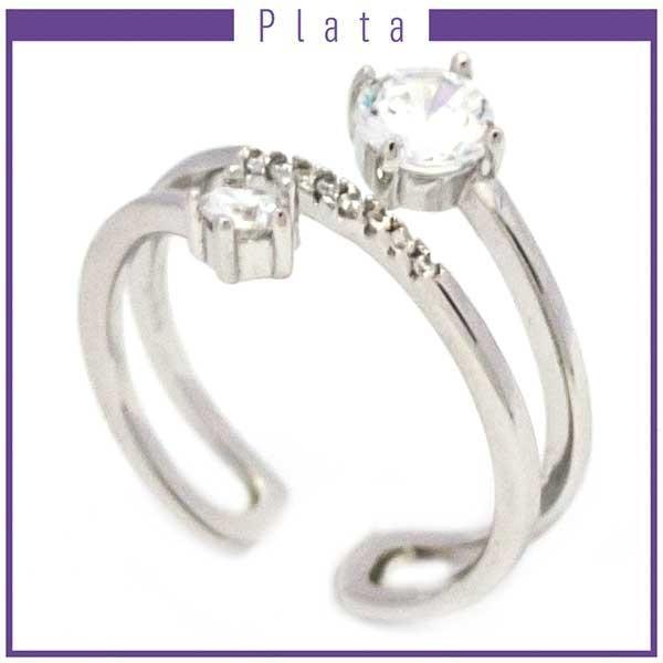 Anillos-Joyas de plata 925 por mayor Anillo ajustable con circones-Joyas de Plata-Anillos-RP0011
