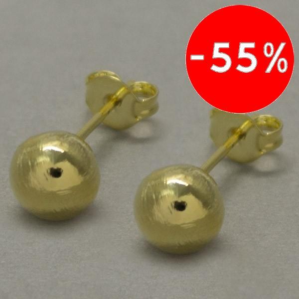 Joyas bañadas en oro por mayor, Aros. Bañada en oro, en tamaño de 7mm y 9mm-Joyas Banadas-Aros-EE0125L