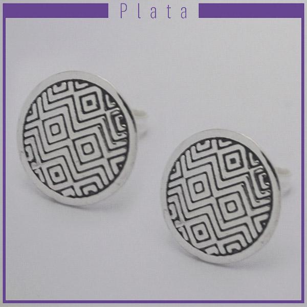Joyas de Plata 925 por mayor , aro de plata con figuras circular de 1,5 cm -Joyas de Plata-Aros-EP0090