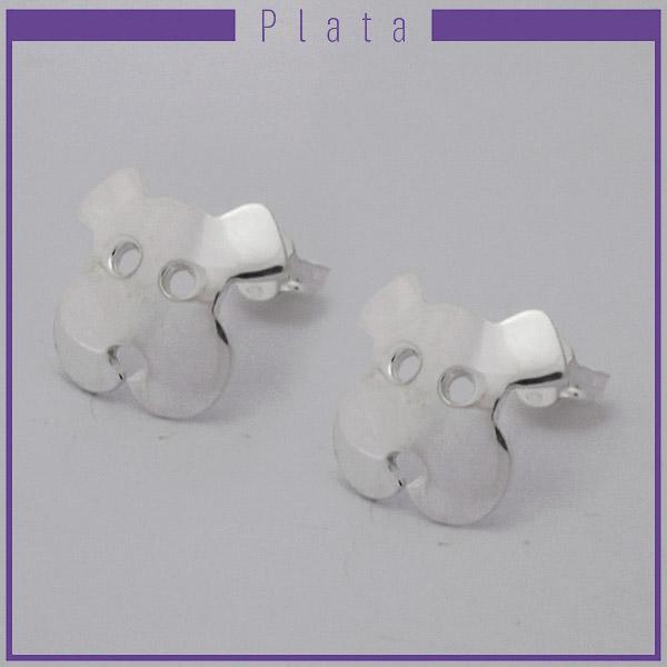 Joyas de Plata 925 por mayor, aro de plata, cara de perrito . 1,8 cms aprox-Joyas de Plata-Aros-EP0093