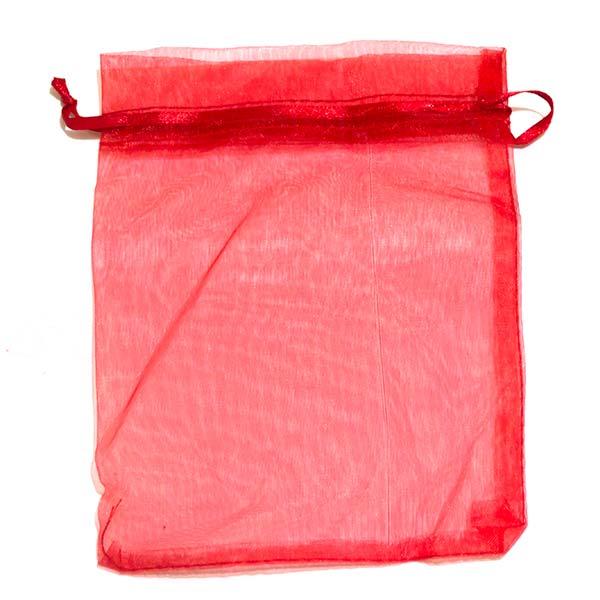 Bolsas de organza GRANDE, 6 unidades. Tamaño 17cm de alto x 12 cm de ancho.-Insumos -Insumos Joyas-BOG