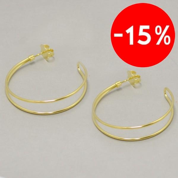 Joyas bañadas en oro y plata por mayor-Joyas Banadas-Aros-EE0549