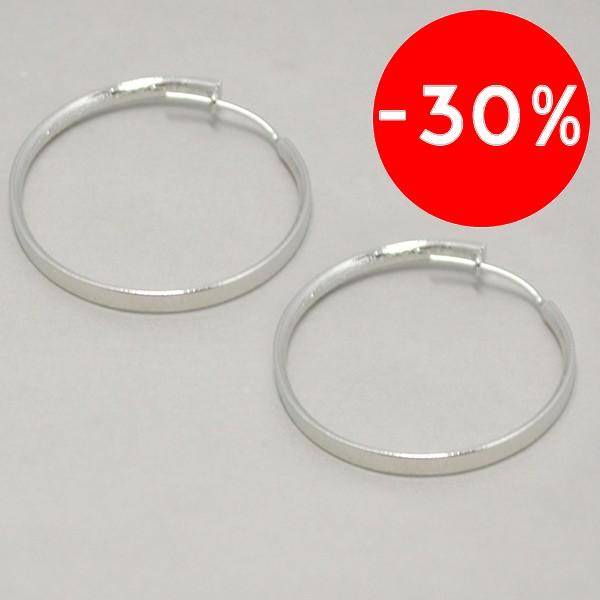 diseño clásico que puedes usar en cualquier ocasion, diámetro 3 cm-Joyas Banadas-Aros-EE0617A