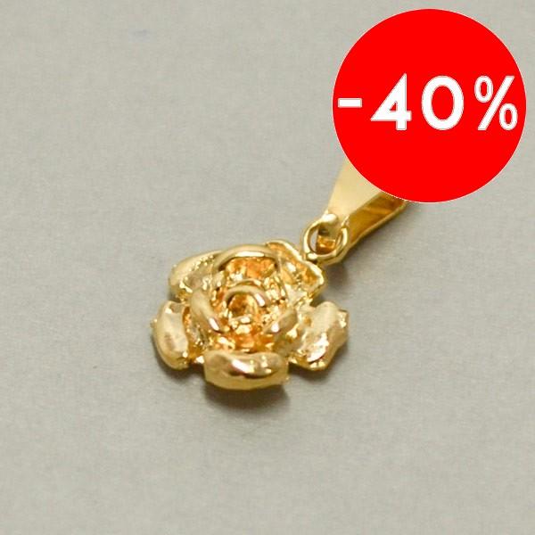 Joyas bañadas en oro por mayor, colgante enchape  de oro en forma de flor el tamaño del colgante es de 2 cm  aprox -Joyas Banadas-Colgantes-PE0008
