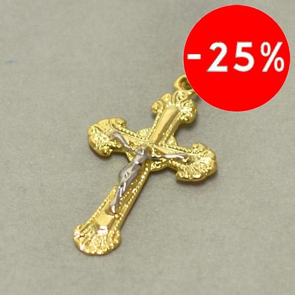 Joyas bañadas en oro por mayor, imagen religiosa bicolor, tamaño 3 cm-Joyas Banadas-Colgantes-PE0067