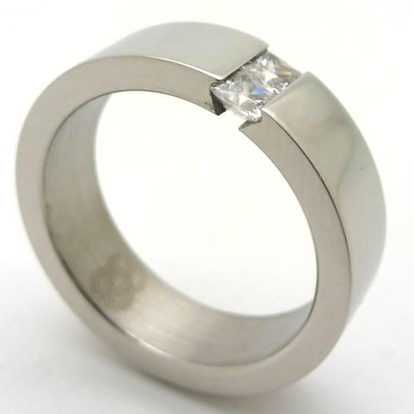 Joyas de acero quirurgico por mayor, anillos. anillo brillantes con 2 circones verticales blancos-Súper Ofertas-INTERNET-RA0005