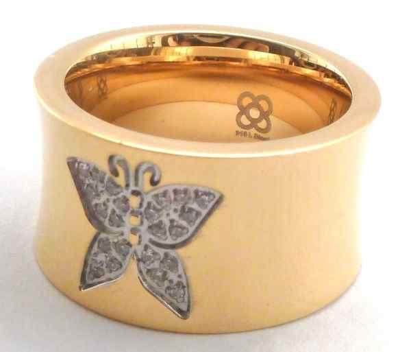 Joyas de acero quirurgico por mayor, anillos. anillo dorado con una maripoza en el centro-Joyas de Acero-Anillos-RA0023