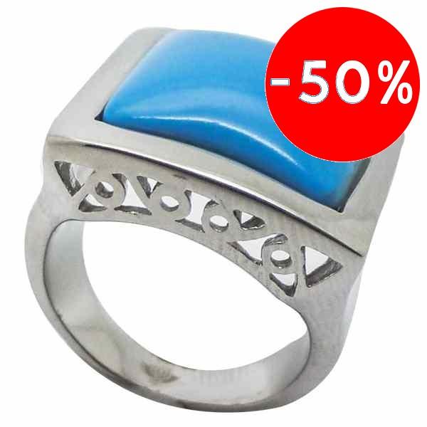 Joyas de acero quirurgico por mayor, anillos. anillo con superficie cuadrada con calados en los con-Súper Ofertas-SOLO POR INTERNET 1-RA0258L