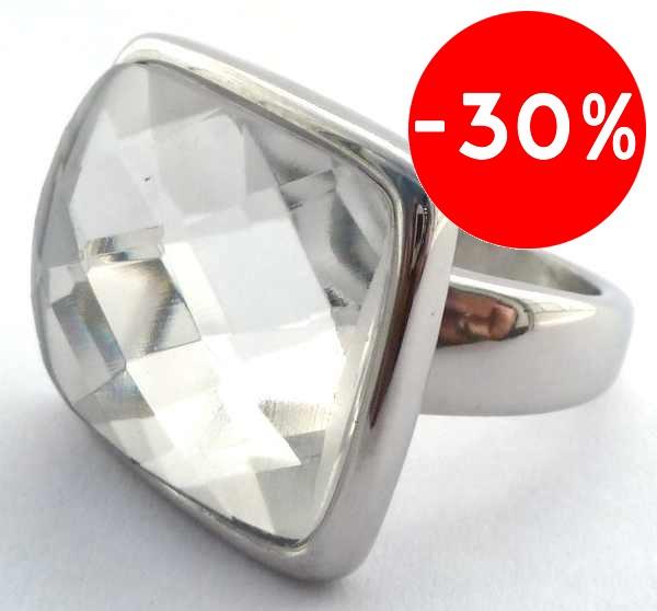 Joyas de acero quirurgico por mayor, anillos. anillo con base delgada y una piedra cuadrada facetad-Súper Ofertas-SOLO POR INTERNET-RA0352
