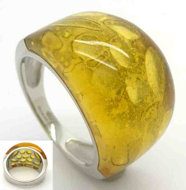 Joyas de acero quirurgico por mayor, anillos. Anillos Joyas de Acero con cristal amarillo translúci-Joyas de Acero-Anillos-RA0523