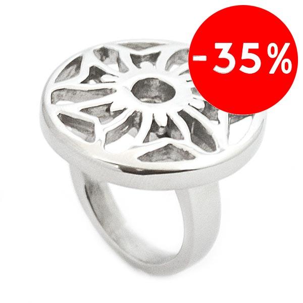 Joyas de acero quirurgico por mayor, anillos. Anillos acero forma de plato calado-Joyas de Acero-Anillos-RA0528