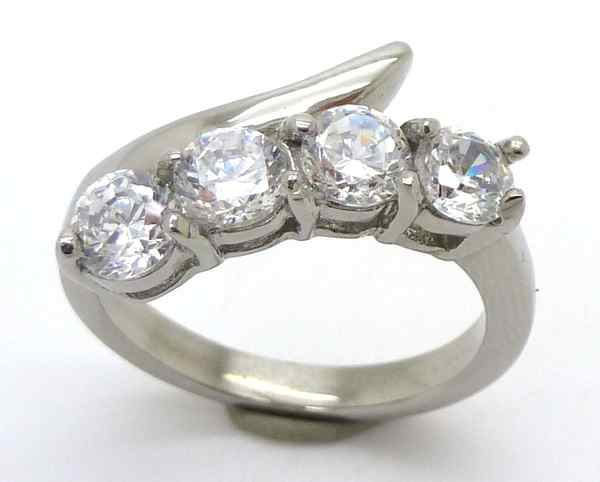 Joyas de acero quirurgico por mayor, anillos. Anillo acero medio cintillo y una linea curva sobre l-Joyas de Acero-Anillos-RA0539
