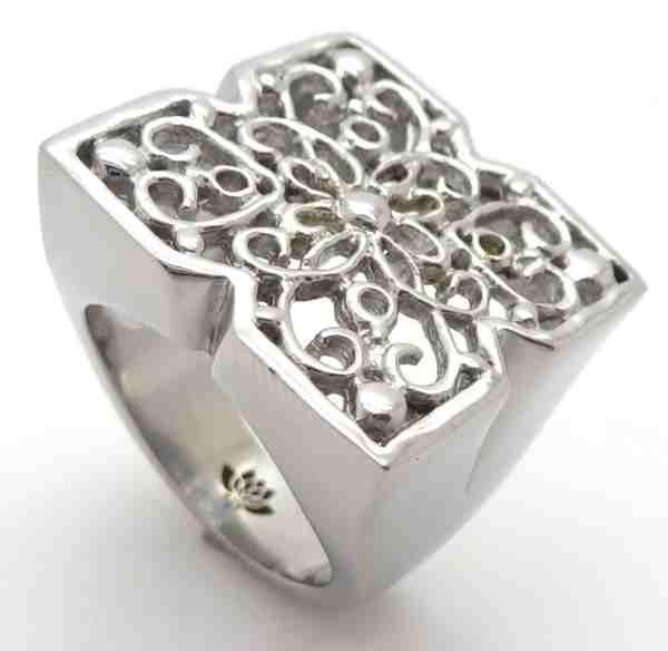 Joyas de acero quirurgico por mayor, anillos. Anillo acero cuadrado en la superficie y dibujos de h-Joyas de Acero-Anillos-RA0594