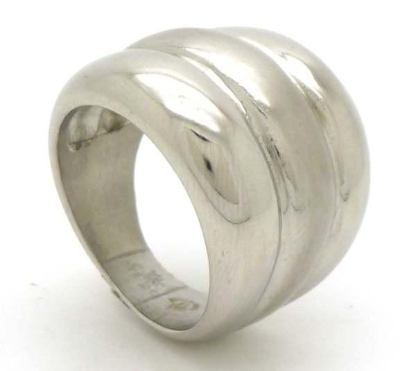 Joyas de acero quirurgico por mayor, anillos. Anillo acero con bordes brillantes y en medio satinad-Súper Ofertas-SEMANA DEL ANILLO-RA0632