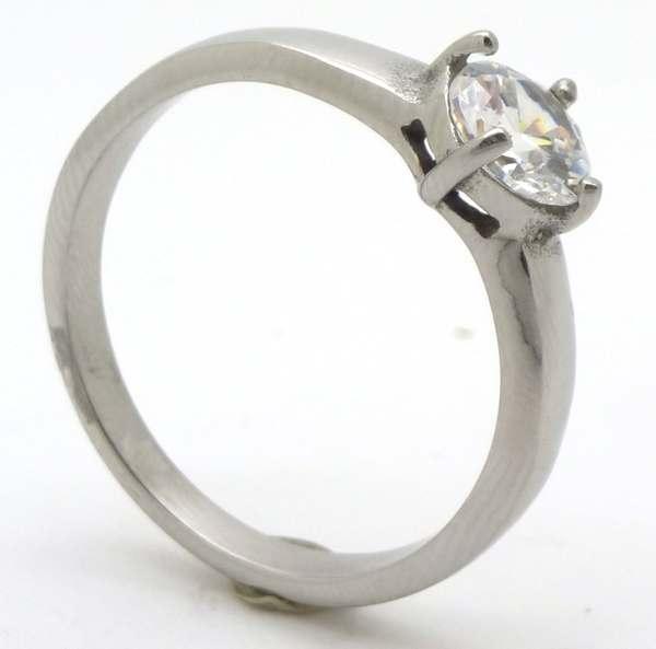 Joyas de acero quirurgico por mayor, anillos. Anillo acero tipo solitario-Joyas de Acero-Anillos-RA0636