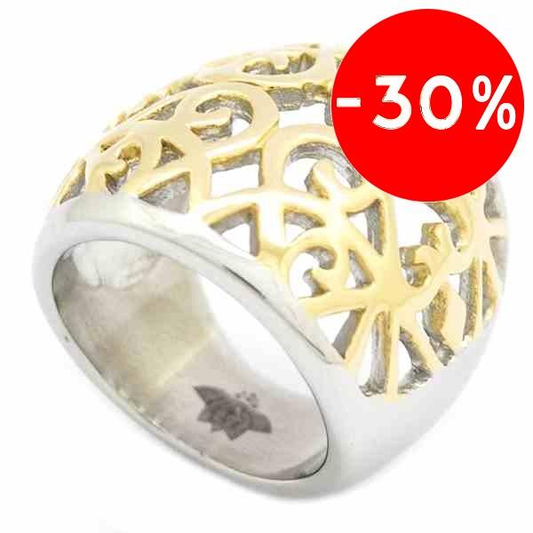 Joyas de acero quirurgico por mayor, anillos. forma de bola con diseños plateados y dorados-Súper Ofertas-SOLO POR INTERNET-RA0688