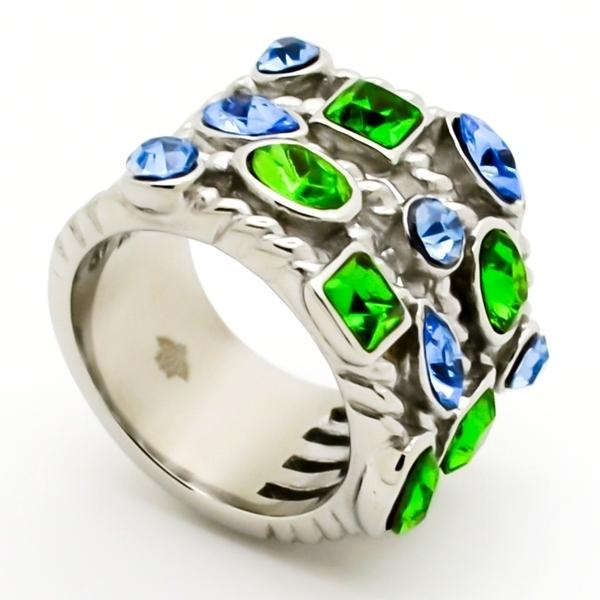 Joyas de acero quirurgico por mayor, anillos. 19 mm de ancho con superficie en forma de malla y cir-Súper Ofertas-INTERNET-RA0689