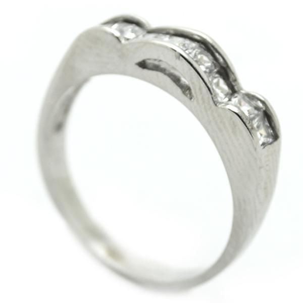 Joyas de acero quirurgico por mayor, anillos. Medido cintillo, con formas curvas sobre relieve-Joyas de Acero-Anillos-RA0713