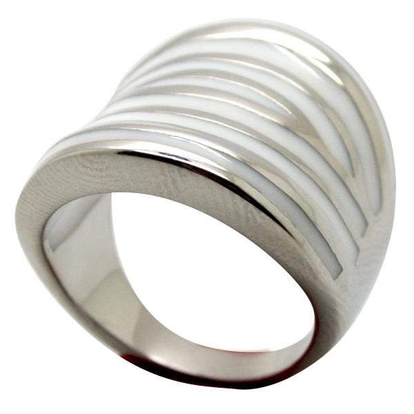 Joyas de acero quirurgico por mayor, anillos. Anillo acero alargado esmaltado con rayas en en color-Súper Ofertas-INTERNET-RA0740W