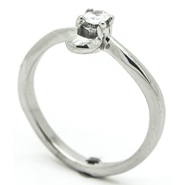 Joyas de acero quirurgico por mayor, anillos. Anillo acero forma de solitario-Joyas de Acero-Anillos-RA0748