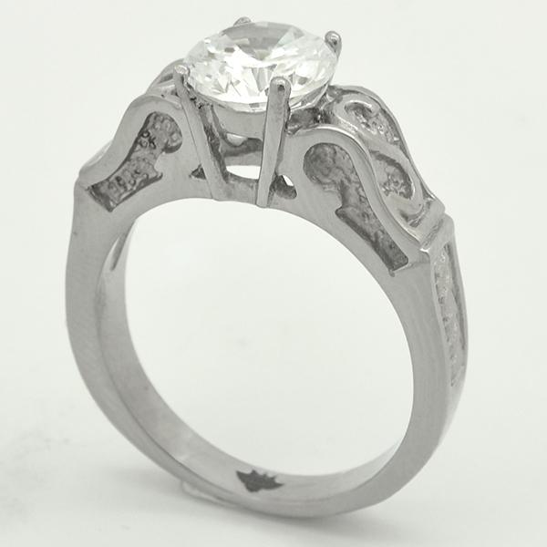 Joyas de acero quirurgico por mayor, anillos. anillo de acero, modelo solitario con un diseño vangu-Joyas de Acero-Anillos-RA0762