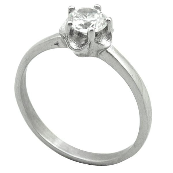 Joyas de acero quirurgico por mayor, Anillos, anillo acero modelo solitario-Joyas de Acero-Anillos-RA0766