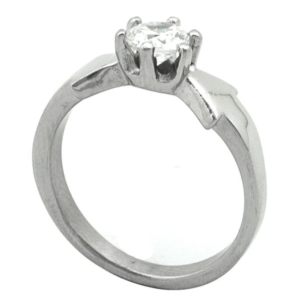 Joyas de acero quirurgico por mayor, Anillos, anillo acero tipo solitario, moderno diseño-Joyas de Acero-Anillos-RA0772