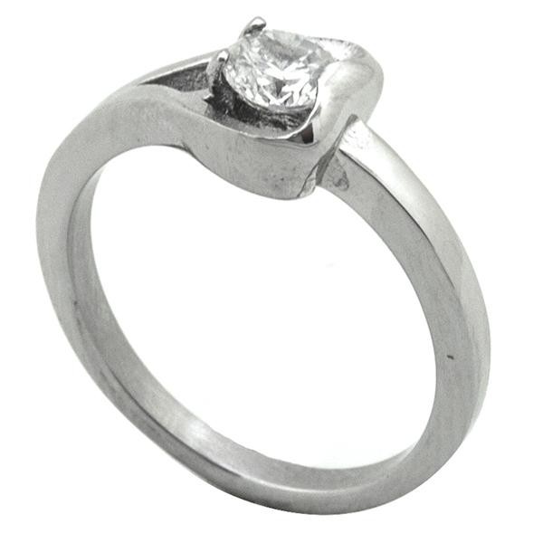 Joyas de acero quirurgico por mayor, Anillo, anillo acero estilo solitario-Joyas de Acero-Anillos-RA0774