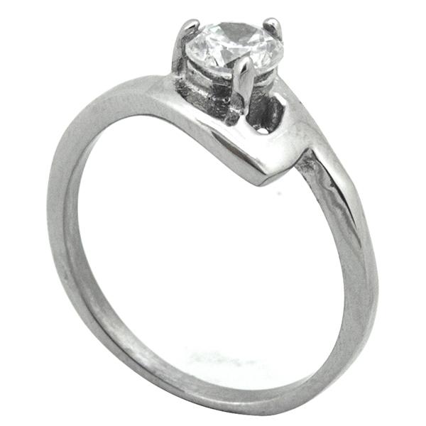 Joyas de acero quirurgico por mayor, Anillos, anillo acero, solitario clásico-Joyas de Acero-Anillos-RA0776