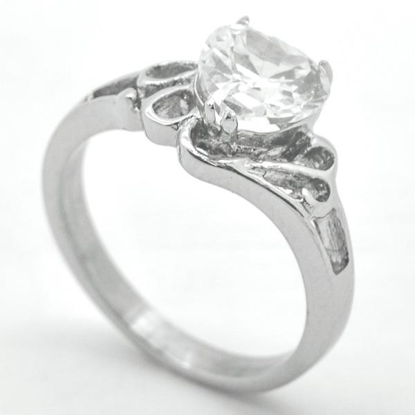 Joyas de acero quirurgico por mayor, anillos. anillo solitario de diseño moderno con circon en form-Súper Ofertas-LIQUIDACIÓN -RA0781