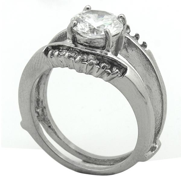 Joyas de acero quirurgico por mayor, anillos. anillo acero con circon, estilo solitario-Súper Ofertas-LIQUIDACIÓN -RA0784L